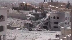 یک انبار حوثی ها روز سه شنبه بمباران شد