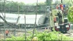Mỹ điều tra vụ xe lửa trật đường ray gây chết người ở Philadelphia