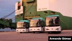 En noviembre, iniciará la operación de los tres buses eléctricos en Costa Rica. Foto cortesía Gobierno de Costa Rica.