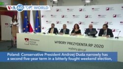 VOA60 World - Incumbent Duda Wins Polish Presidential Election