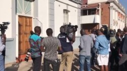 Reporters Wait Outside Harare Constitutional Court as Opposition Files Election Challenge