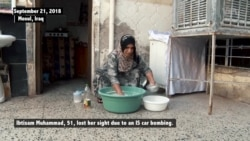 Mosul Woman Blinded by IS Bombing Makes Bread to Support Her Family