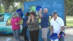 美国万花筒:冰桶挑战风靡各地;老兵夫妻拥吻纪念日本投降69周年
