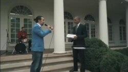 اجرای موسیقی رپ در کاخ سفید با همکاری باراک اوباما