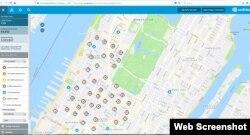 Manhattan'da elektrik verilemeyen bölgeler