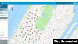 ພາບນີ້ ນຳເອົາມາຈາກ ໜ້າເວັບໄຊ ຂອງ ບໍລິສັດ Consolidated Edison ສະແດງໃຫ້ເຫັນ ຈຳນວນຂອງທີ່ຢູ່ອາໄສ ໃນເຂດ West Side ຂອງເມືອງ Manhattan, ວັນທີ 13 ກໍລະກົດ 2019.