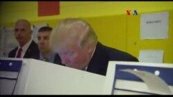 Donald Trump vota em Donald Trump