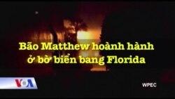Bão Matthew đang hoành hành ở bờ biển phía đông bang Florida.
