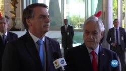 Jair Bolsonaro aceita ajuda do Chile e reitera críticas a Macron