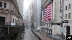 Nju Jork, heshtje në zonën financiare