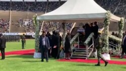 Former Zimbabwe First Lady and African Leaders at Mugabe State Burial