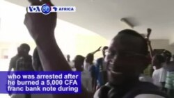 VOA60 Africa - Senegal: Supporters in Dakar celebrate after a court decides to release activist Kemi Seba