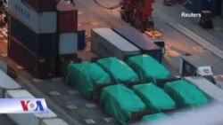 Singapore thúc Hong Kong trao trả đoàn xe thiết giáp bị thu giữ
