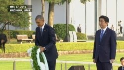Obama Lays a Wreath in Hiroshima