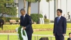 Obama Lays a Wreath in Hiroshima