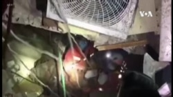 救援人員繼續在泉州市倒塌酒店現場進行挖掘