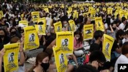 Hình ảnh một cuộc biểu tình mới đây ở Thái Lan.