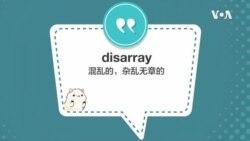 学个词 - disarray