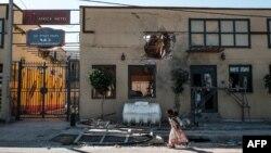 埃塞俄比亞提格雷地區一處被迫擊砲火破壞的旅店。 (2020年11月22日)