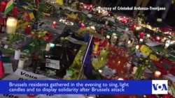 Vigil Held in Brussels for Victims of Tuesday's Terror Attacks