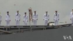 美核动力航母乔治·华盛顿号离日回美