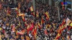Katalonya'da Birlik Yanlısı Gösteri