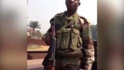 Images dans les rues et quartiers de Bangui prises par Idriss Fall de son iPhone