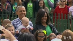 美国儿童聚集白宫 参加复活节推彩蛋活动