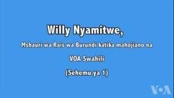 Willy Nyamitwe, Mshauri wa Rais wa Burundi azungumza na VOA Swahili