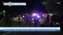 VOA60 America - Portland police declared a riot Wednesday on the 68th night of protests over racial justice