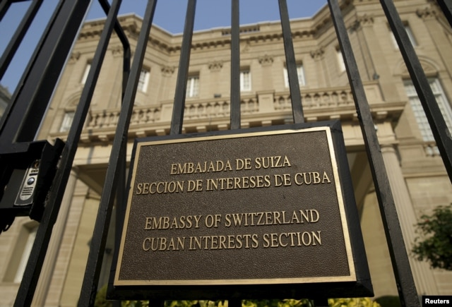 The Cuban Interests Section is seen in Washington, July 1, 2015