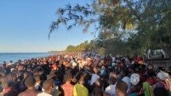Covid-19: Banhistas violam regras de prevenção na Praia do Wimbe, Cabo Delgado