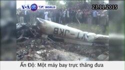 Rơi máy bay trực thăng đưa người hành hương ở Ấn Độ (VOA60)
