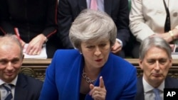 Britanska premijerka Tereza Mej na sednici parlamenta 16. januara 2019.