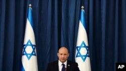 나프탈리 베네트 이스라엘 총리가 8일 예루살렘에서 내각회의를 주재했다.