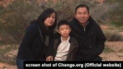 Chị Trinh Phan cùng chồng Young Nguyen và con trai David