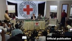 ICRC ဥကၠ႒ရဲ႕ ေနျပည္ေတာ္ သတင္းစာရွင္းလင္းပြဲ (ဓာတ္ပံု- MOI)
