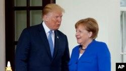 Presidenti Trump priti në Shtëpinë e Bardhë kancelaren gjermane Angela Merkel, 27 prill 2018