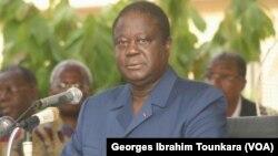 Henri KONAN Bédié, président du PDCI, à Abidjan, en Côte d'Ivoire, le 24 avril 2017. (VOA/Georges Ibrahim Tounkara)