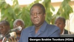 Henri KONAN Bédié président du PDCI, à Abidjan, en Côte d'Ivoire, le 24 avril 2017. (VOA/Georges Ibrahim Tounkara)