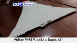 VOA60 Africa - A suspected piece of MH370 debris found off the coast of Mozambique sent to Australia