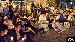 約200人參與劉曉波百日祭 (美國之音特約記者 湯惠芸拍攝 )