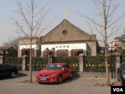 北京冈瓦市教堂(美国之音申华拍摄)