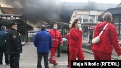 Požar na gradskoj pijaci u Tuzli, 26. februar 2019.