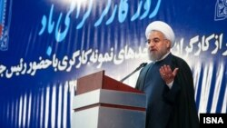 حسن روحانی روز یکشنبه در مراسم روز کارگر از نتیجه انتخابات ابراز خرسندی کرد.