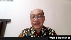 Juru Bicara BSSN Anton Setiawan dalam telekonferensi pers di Jakarta, Rabu (1/9) mengatakan kerentanan yang ada pada mitra eHAC sudah ditangani dengan baik (VOA)