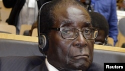Zimbabwe's President Robert Mugabe attends the African Union conference in Addis Ababa on July 15, 2012.