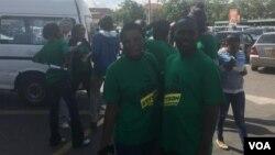 Members of the #TysonWabantu Movement campaigning for Saviour Kasukuwere in Bulawayo