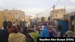 La maison mortuaire à Guet Ndar, au Sénégal, le 4 février 2018. (VOA/Seydina Aba Gueye)