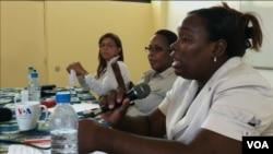 Alexandra Simeão – ex-Vice-Ministra da Educação para a Acção Social , Ana Margoso – jornalista e activista e Suzana Mendes – jornalista free-lancer